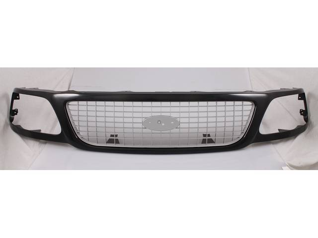 GRILLE, REPRO, ARGENT AND BLACK, PAINT TO MATCH,