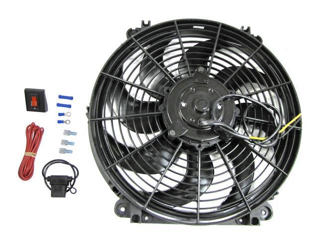 FAN ASSY, ELECTRIC COOLING, 14 INCH DIAMETER, REVERSIBLE,