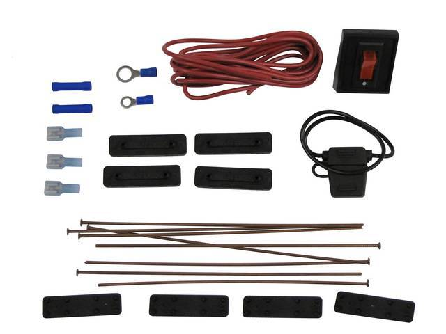 INSTALLATION KIT, ELECTRIC FAN, INCLUDES METAL ROD MOUNTING