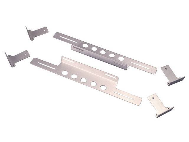 BRACKET SET, BILLET ALUMINUM, FOR ELECTRIC FANS
