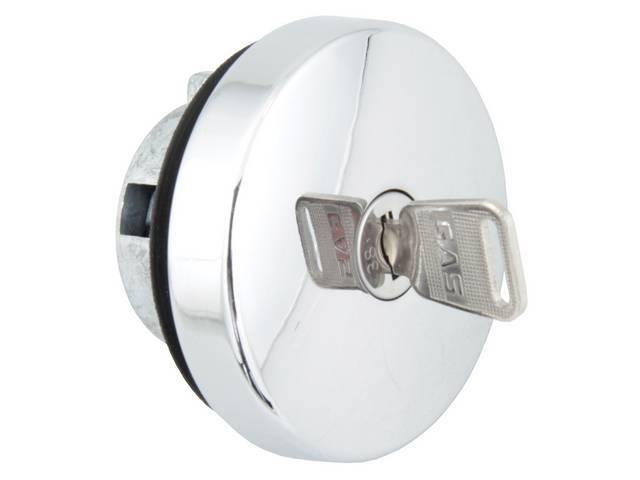 FUEL CAP, LOCKING, CHROME, C4RZ-9030-C, SIMILAR TO T-9030-2