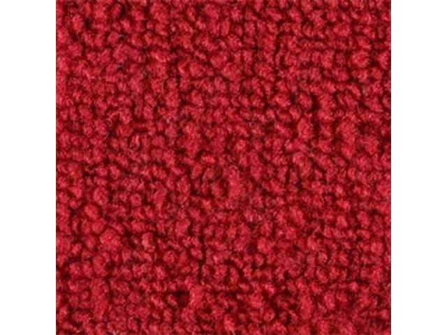 CARPET RAYLON WEAVE MOLDED RED