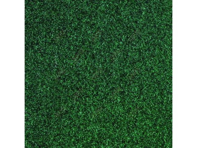 CARPET, CUT PILE NYLON, MOLDED, JADE GREEN