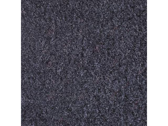 CARPET, CUT PILE NYLON, MOLDED