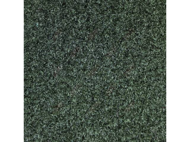 CARPET, CUT PILE NYLON, MOLDED, GRAY