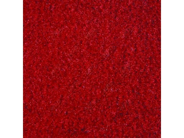 CARPET CUT PILE NYLON MOLDED RED