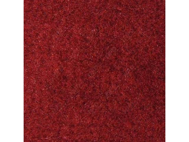 CARPET, CUT PILE NYLON, MOLDED, OXBLOOD