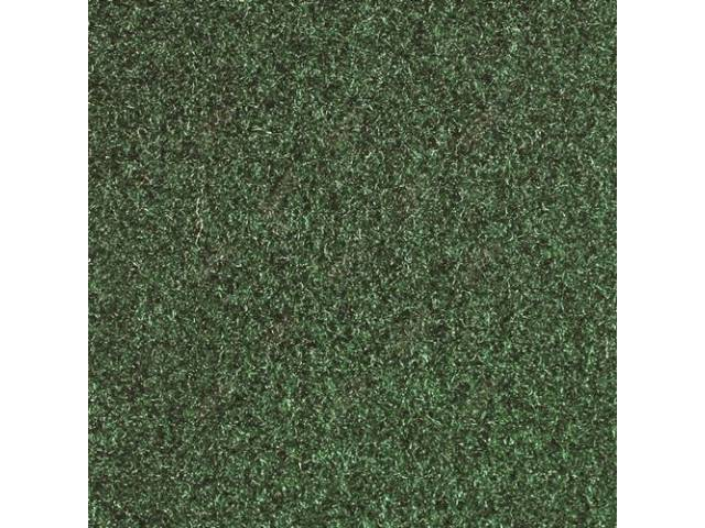 CARPET, CUT PILE NYLON, MOLDED, GREEN