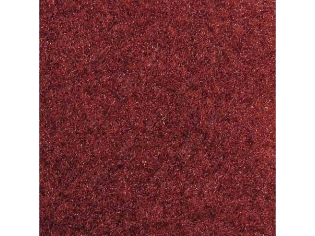 CARPET, CUT PILE NYLON, MOLDED, DARK MAROON