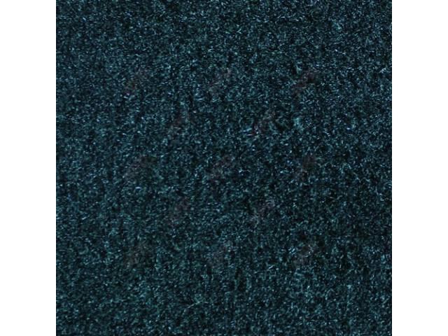 CARPET, CUT PILE NYLON, MOLDED, BLUE