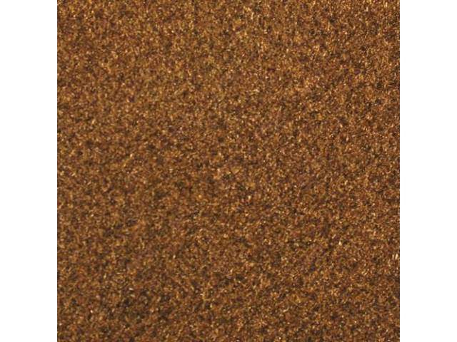 CARPET, CUT PILE NYLON, MOLDED, NUTMEG