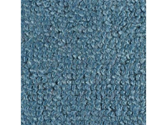 CARPET RAYLON WEAVE MOLDED MEDIUM BLUE