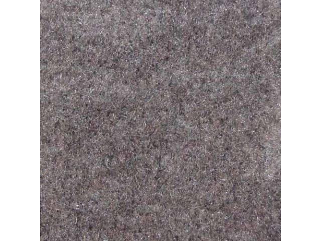 CARPET, CUT PILE NYLON, MOLDED, OPAL, (LIGHT GRAY),
