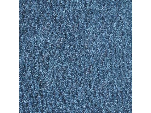 CARPET, CUT PILE NYLON, MOLDED, BLUE