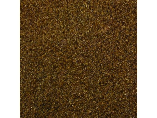 CARPET, CUT PILE NYLON, MOLDED, SADDLE