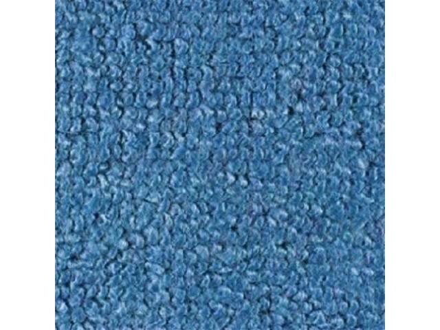 CARPET RAYLON WEAVE MOLDED COMPLETE FORD BLUE