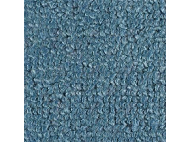 CARPET, RAYLON WEAVE, MOLDED, COMPLETE, MEDIUM BLUE