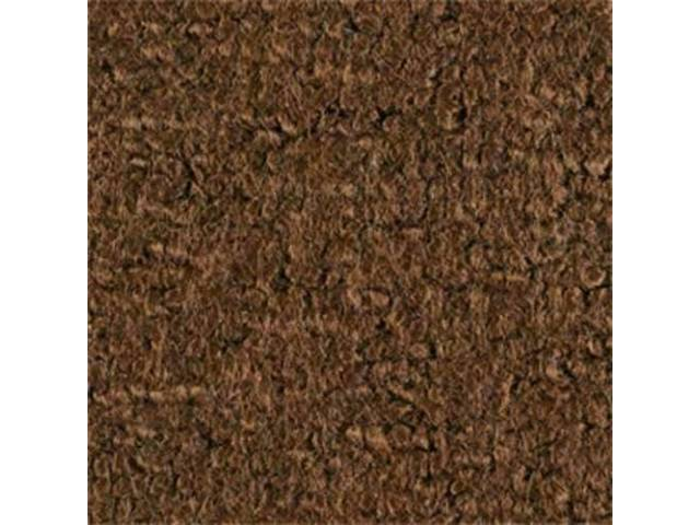 CARPET, RAYLON WEAVE, MOLDED, COMPLETE, DARK BROWN