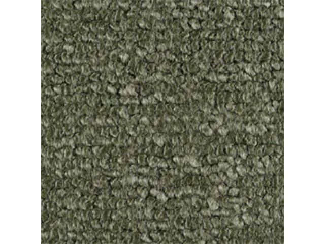 CARPET RAYLON WEAVE MOLDED COMPLETE MOSS GREEN