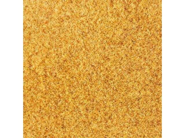 CARPET, CUT PILE NYLON, MOLDED, COMPLETE, GOLD