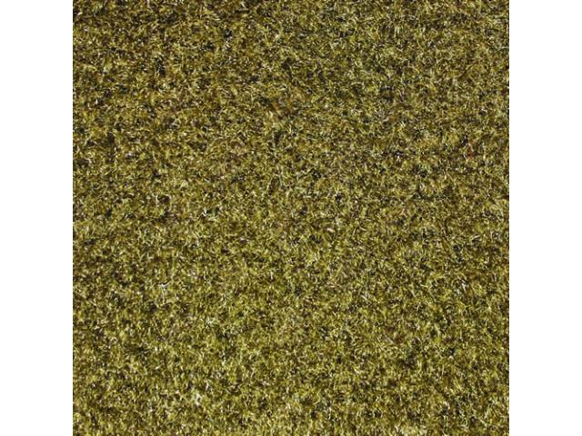 CARPET, CUT PILE NYLON, MOLDED, COMPLETE, TAUPE /