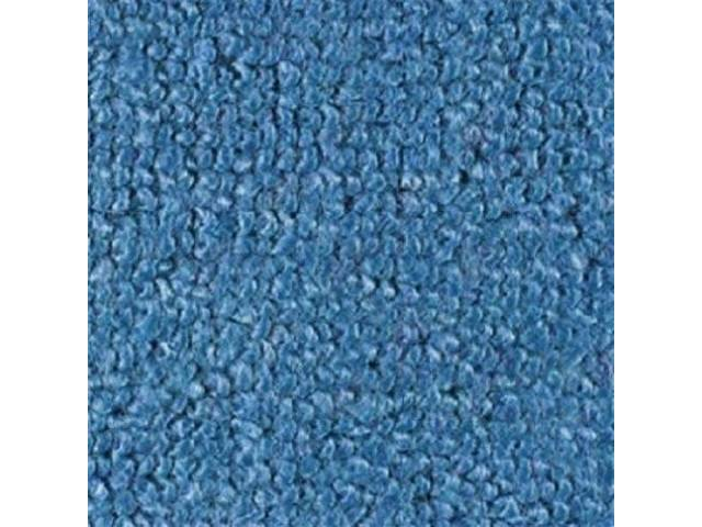 CARPET, RAYLON WEAVE, MOLDED, COMPLETE, FORD BLUE