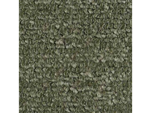 CARPET RAYLON WEAVE MOLDED COMPLETE MOSS GREEN This