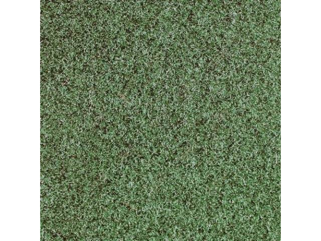 CARPET, CUT PILE NYLON, MOLDED, COMPLETE, GREEN