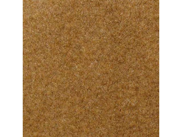 CARPET, CUT PILE NYLON, MOLDED, COMPLETE, SANDALWOOD