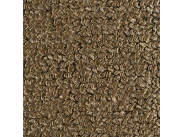 CARPET RAYLON WEAVE MOLDED FRONT ONLY LIGHT SADDLE