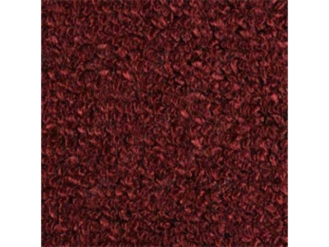 CARPET, RAYLON WEAVE, MOLDED, FRONT ONLY, MAROON