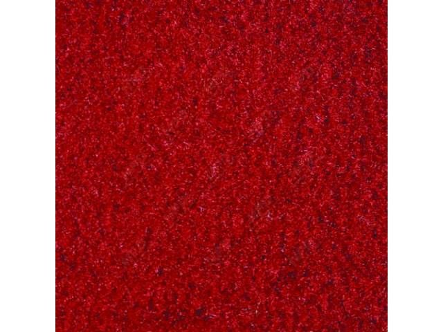 CARPET, CUT PILE NYLON, MOLDED, FRONT ONLY, RED