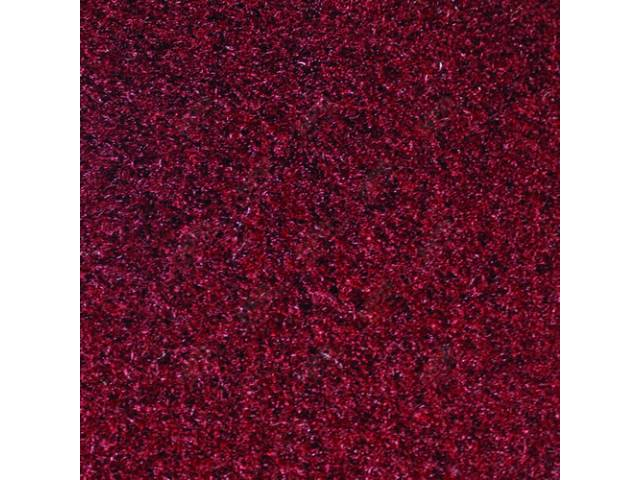 CARPET, CUT PILE NYLON, MOLDED, FRONT ONLY, MAROON