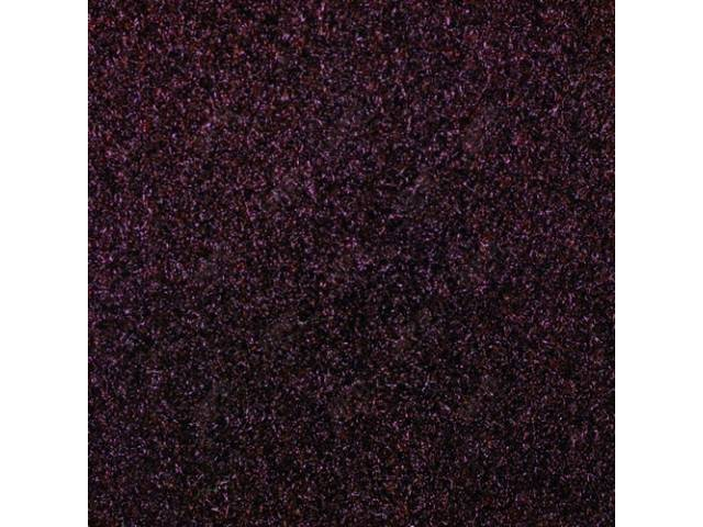 CARPET, CUT PILE NYLON, MOLDED, FRONT ONLY, OXBLOOD