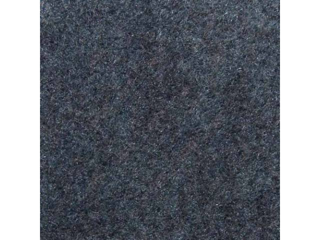 CARPET, DOOR PANEL, CUT PILE NYLON, MEDIUM BLUE,