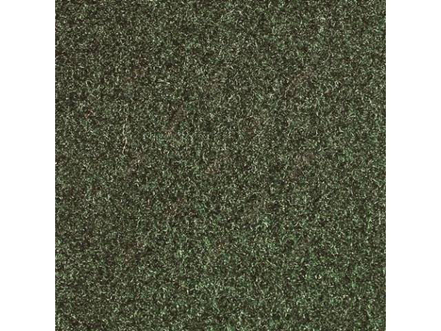 CARPET, DOOR PANEL, CUT PILE NYLON, GREEN, ON