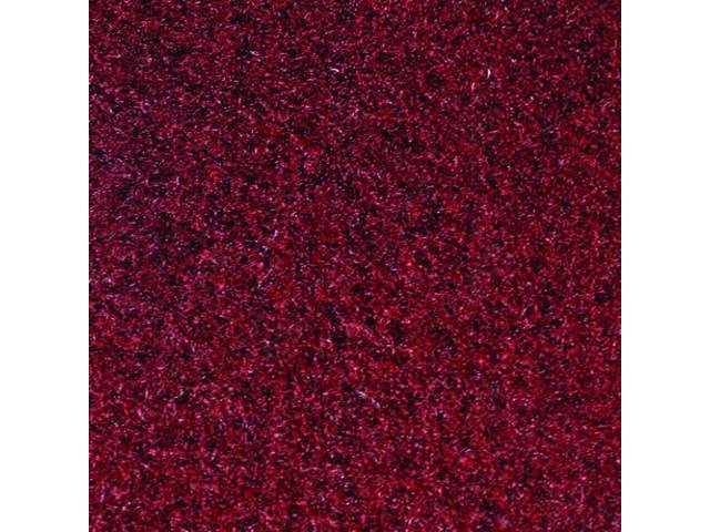 CARPET, Tailgate, Cut pile nylon, molded, complete, maroon