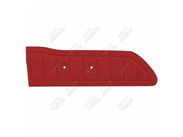 DOOR PANELS RED REPRO ABS-PLASTIC pair