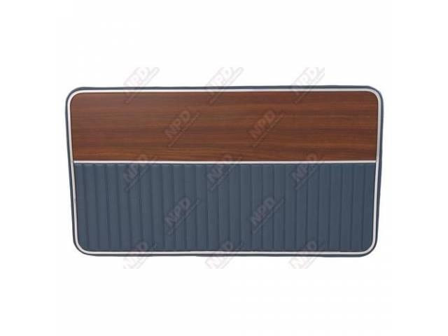 DOOR PANEL REPRO BLUE SIERRA GRAIN VINYL W/