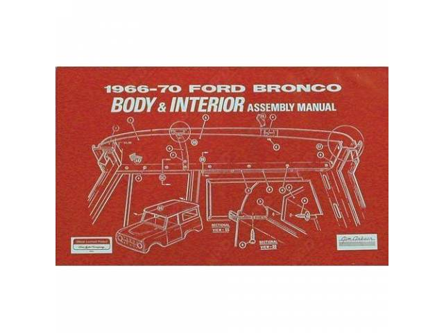 BODY AND INTERIOR ASSEMBLY MANUAL, 1966-70, REPRINT OF