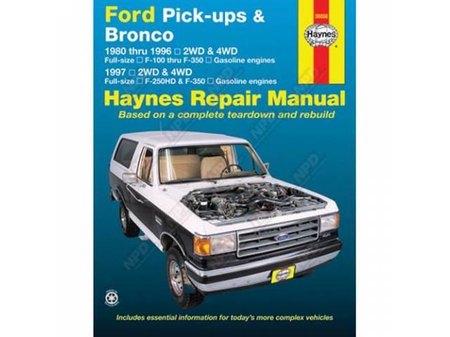 BOOK, HAYNES WORKSHOP MANUAL 80-96