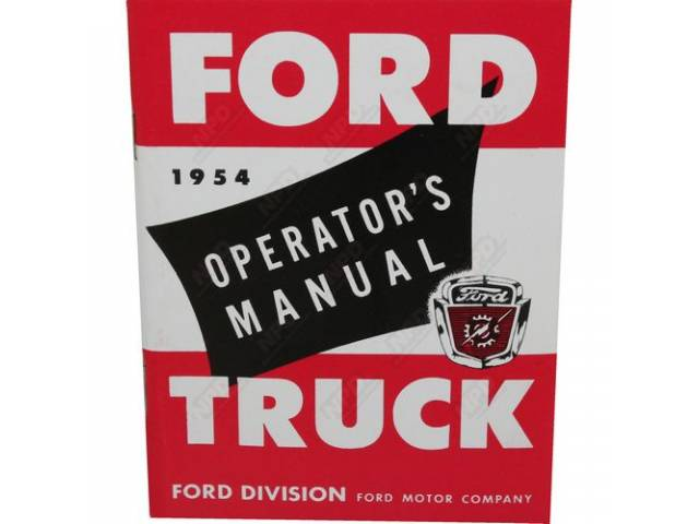 OWNERS MANUAL 1954