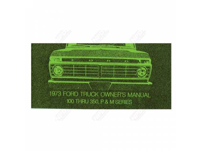 OWNERS MANUAL 1973 ORIGINALS LIMITED SUPPLY