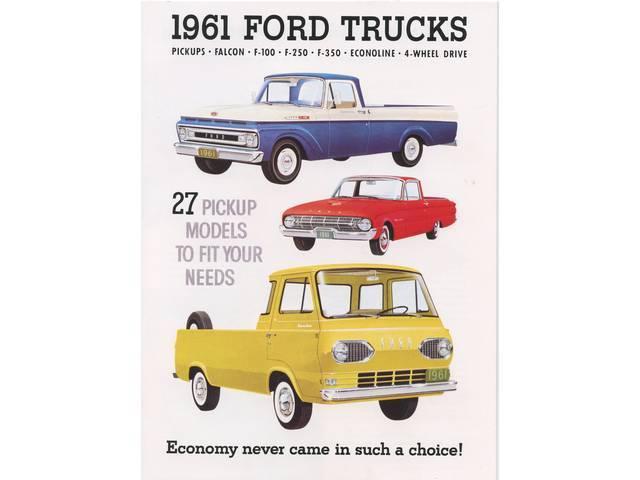 SALES BROCHURE, 1961, excellent reprint,  includes F100,