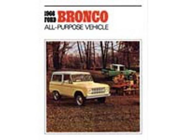 SALES BROCHURE, 1966 BRONCO, EXCELLENT REPRO