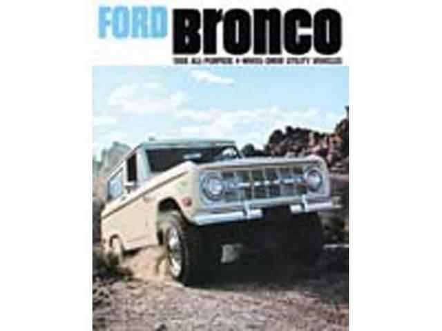 SALES BROCHURE, DEALER, 1968 BRONCO