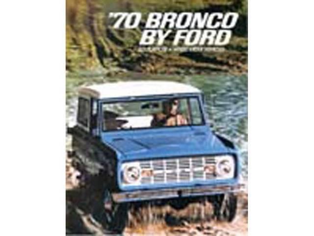 SALES BROCHURE, 1970 BRONCO, EXCELLENT REPRO