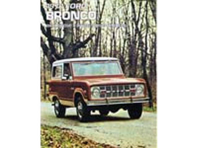 SALES BROCHURE, 1973 BRONCO, EXCELLENT REPRO