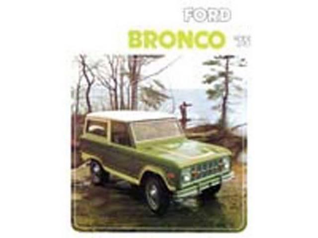 SALES BROCHURE, 1975 BRONCO, EXCELLENT REPRO