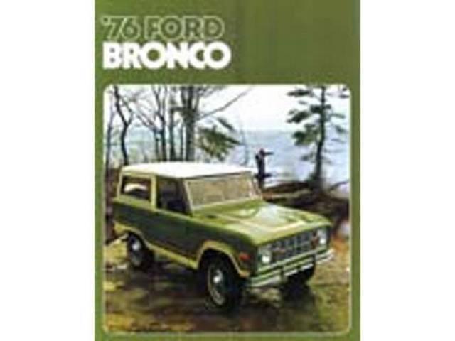SALES BROCHURE, DEALER, 1976 BRONCO